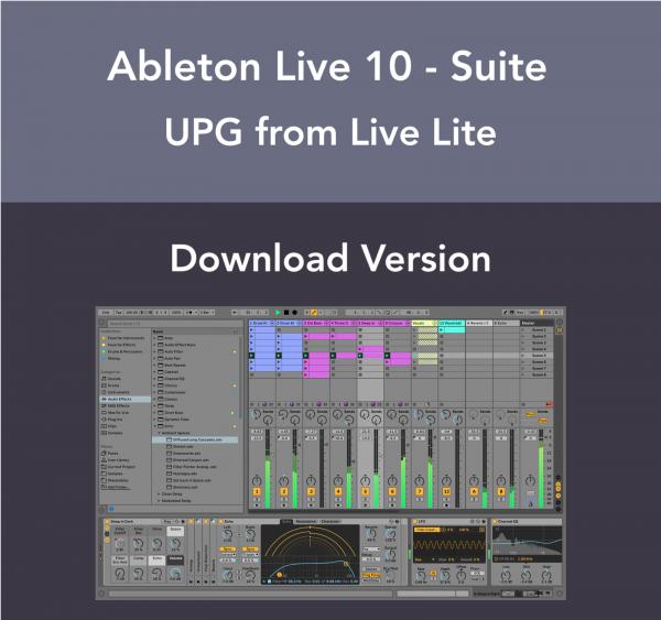 Ableton Live 10 Suite - Live Lite Upgrade