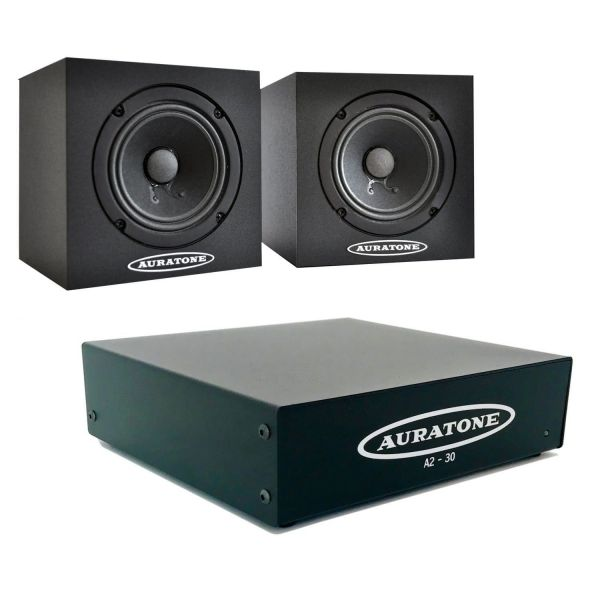 Auratone 5C & A2-30 AMP Bundle - black