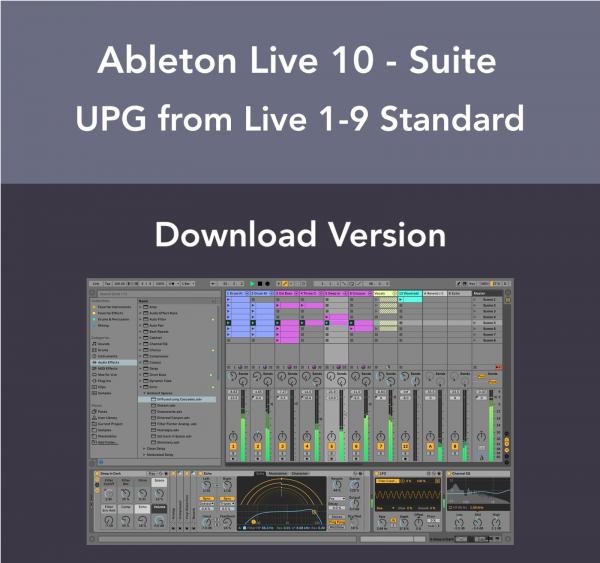 Ableton Live 10 Suite - Live 9 Standard Upgrade